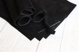 Натуральная замша премиум качества, Черный янтарь