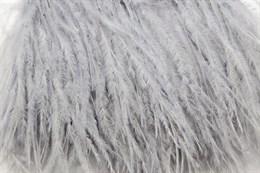 Перо страуса на ленте, Silver Grey